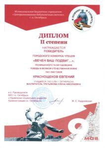 Диплом Краснощёков Евгений