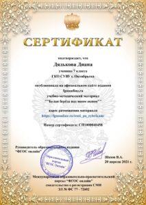 Сертификат Смирновой О.Н.